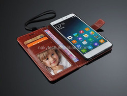 Fashion Ultra-Thin PU Stand Leather Flip Case for Xiaomi Note Luxury Flip Cover
