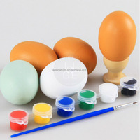 birthday gift 100% green paint wood pretend toys kids pretend kitchen play toys DIY paint eggs