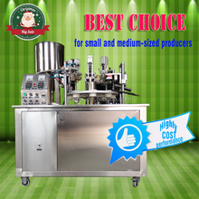 cheap laboratory use semiautomatic laminated tube sealing machine for cosmetics paste, toothpaste, food