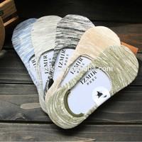 120N bamboo fiber invisible men's socks . man's anti slip socks