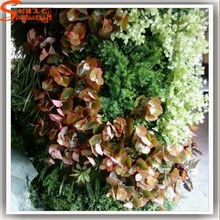 Popular different plants according to your needs vertical garden green wall plastic green wall for hotel or home decoration