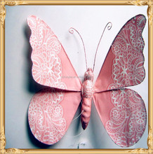 hot design paper cutting butterfly as wall decoration