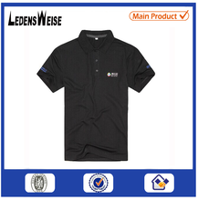 2015LEDENSWEISE short sleeved black 100% cotton China factory polo shirt