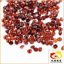 Popular Round brilliant cut round natural red garnet gemstone