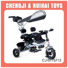 High quality fashion baby twins tricycle for sale