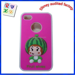 Factory direct sale cheap price promotional animal silicone phone case, mobile phone cover, design mobile phone back cover