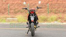 Motorcycle enclosed cargo box semi trailer
