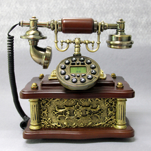 2015 New Dseign wooden antique telephone