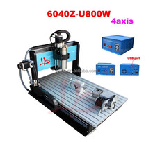CNC 6040Z-U800W 4 axis cnc router engraver with Mach3 USB port connection engraving machine, easy to use