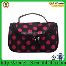 Polka Dot multi-color tote ladies fashion cosmetic bag