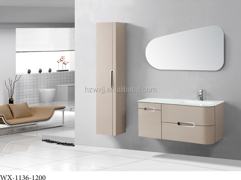 2015 high quality modern wall mounted bathroom vanity