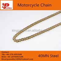 china motorcycle parts high tensile four side riveted motorcycle chain 415H