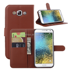 Cell phone case for mobile phone accessories leather flip case for samsung galaxy e7