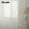flower design embroidery curtain,100%polyester sheer voile embroidery curtain fabric