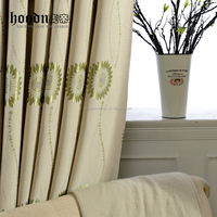 cotton material window curtains for living room/polyester curtains