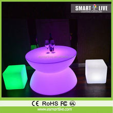 LED cube fashion modern furniture color changing plastic lighting indoor decorative bedroom cube garden led ball light