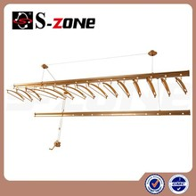 top asle auto wall mounted ceiling lifting clothes rack coat rack