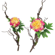 2015 Brand new coming style artificial peony flower on high quality high simulation paper flower rattan