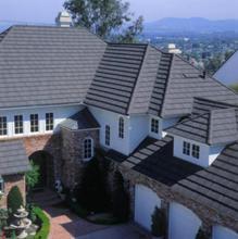 Strengthen Al-Zinc Steel Stone Coated Metal Roof Shingle