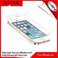 HUYSHE Explosion-proof tempered glass film for iphone 4&for iphone 4s clear gold tempered glass screen protector for iphone4