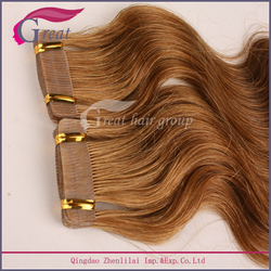 2016 trend Tape hair extension Remy hair