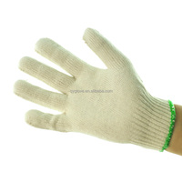 Top quality Knitted cotton gloves, PVC dotted cotton gloves