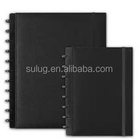 LOOSE LEAF NOTEBOOK with ring mechanism, hard wearing PU Cover, index card and address book