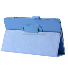 Two folding PU litchi hand-made leather cover case for Samsung GALAXY Tab S T700