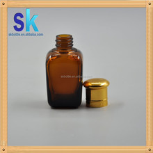 30ml glass e liquid bottle with metal caps amber square glass bottles for essential oil