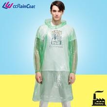 High Quality Transparent Plastic Raincoats Price