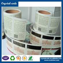 Water resistant vinyl accept order cosmetic label