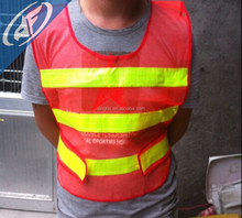 Construction protection reflective vest Orange red highway traffic vests Reflective safety clothing