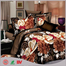 2015 new product hot saling romantic Bedsheet 4 pieces 3D reactive printing beding set