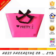 China 2015 new style red cloth carrying bag with custom logo