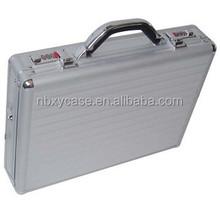 low price aluminum briefcase tool box silver aluminum brief case round corner aluminum box