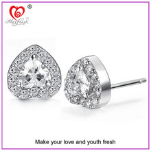 China Wholesale 2015 New Fashion Earring Silver Needle Jewellery Crystal Earring Studs Copper Plated Platinum