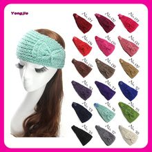Multi Color Hot-selling Women Winter Knitted Bow Headband with Bow