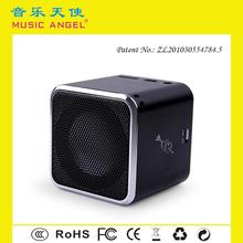 MUSIC ANGEL Micro SD/TF card insertable creative computer speaker sound box with five colors to choose