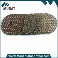 "4""/100mm 7-Step Diamond Dry Polishing pad for Granite/Marble"