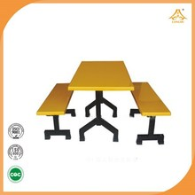 Special design school canteen desk steel dining table and chair commercial furniture