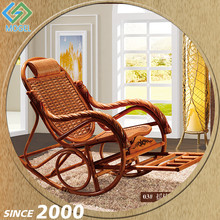 Made In China Modern Garden Weaving Rocking Chair With Foot Rest