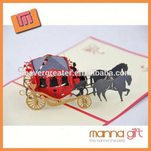 Best selling handmade greeting card 3d new promotional products 2015