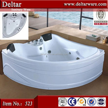 Export Jacuzzy Prices Relax Massage Function, LED Air Jet Luxury Bathtub for 2 Person, walk in tub shower combo