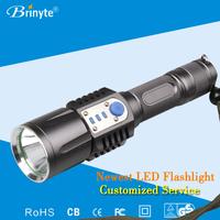 Brinyte portable USB direct charging led flashlight torch