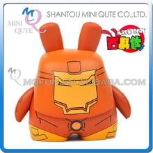 Mini Qute Máscara oso 6,5 cm Marvel superhéroes Kawaii Muñeco de acción plástico muñeca decorativa juguete dibujos