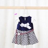 Children Strip Dress Kids Casual Summer Dress New Model Girls Dresses