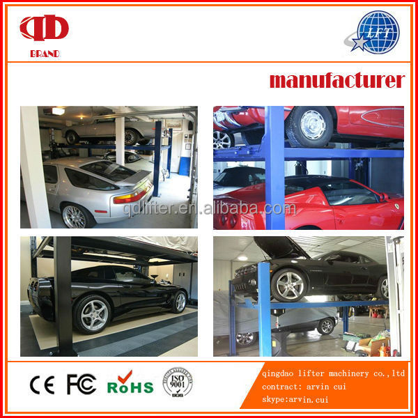 Used Home Garage Car Lift 4 Post Movable Car Parking Lift