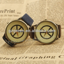 Inspire PU wrist watch with world pace logo for couple D00026Z