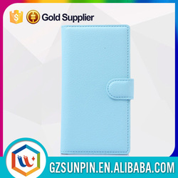 Hot sell leather flip cover case for zte nubia z7 mini