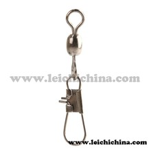 Crane swivel with interlock snap fishing swivel